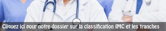 Cliquez-ici pour plus d'informations sur la classification IMC et les tranches OMS