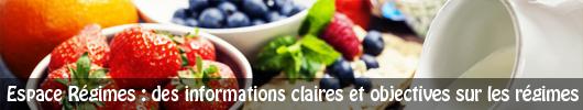 Espace régimes : des informations claires et objective sur les régimes