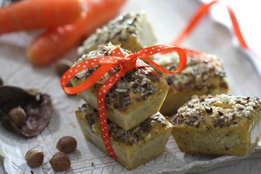 Mini cake carotte et noisettes