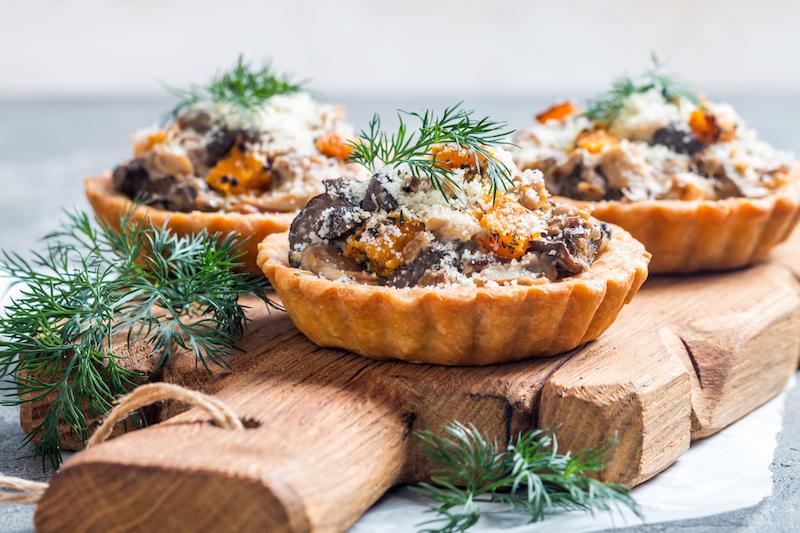 Mini-quiche jambon champignon
