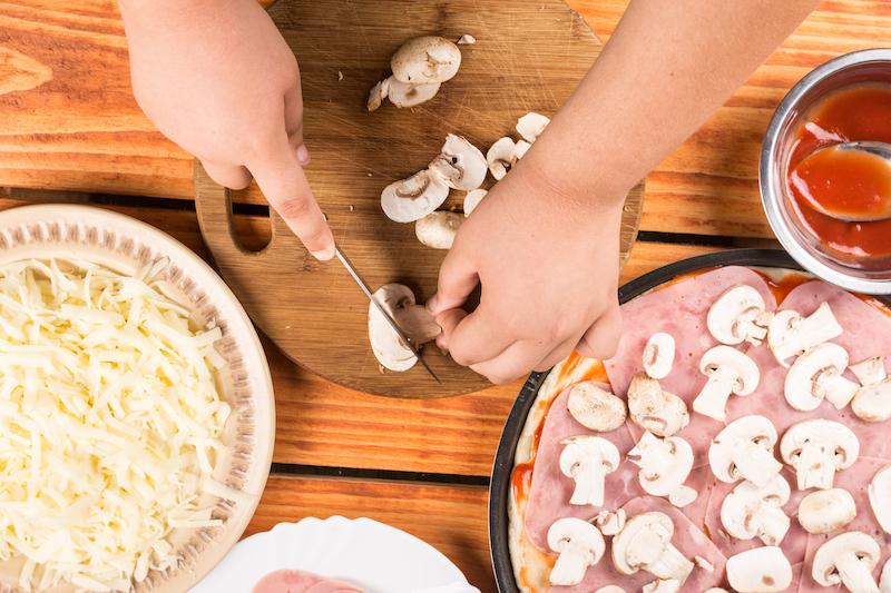 Mini-quiche poivron jambon champignon