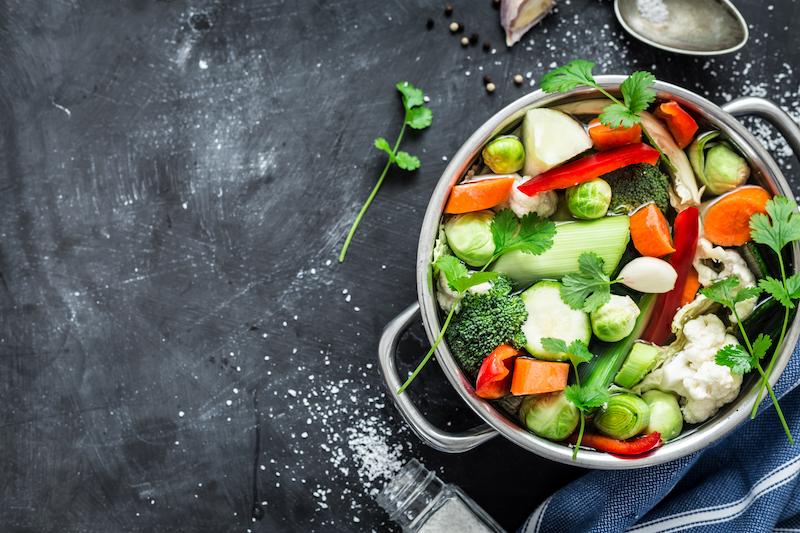 légumes dans une casserole