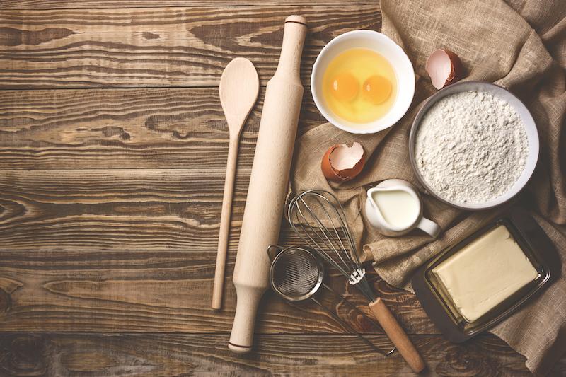 préparation moelleux oeufs farine