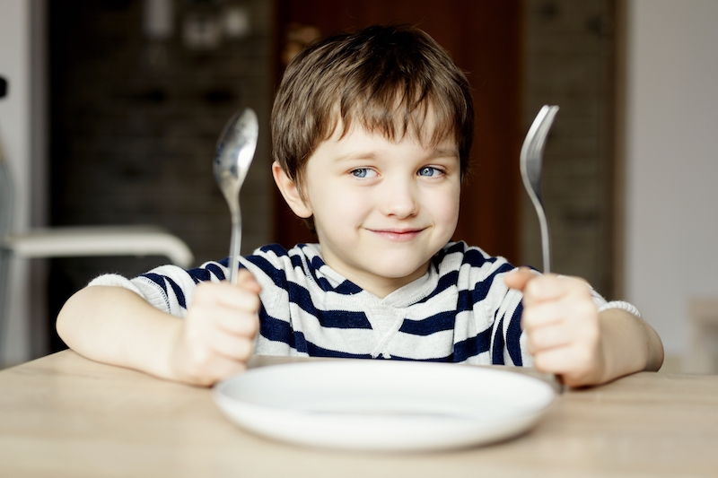 imc enfant à table