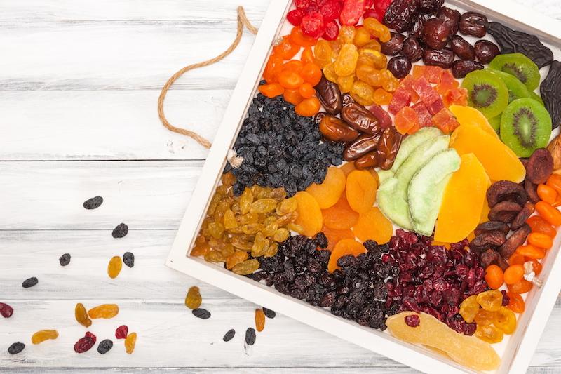 les fruits seches sont riches en calories