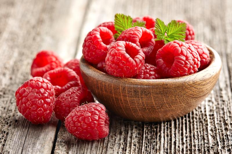 la framboise, un fruit faible en calorie