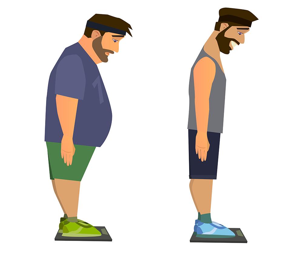 la prise de poids chez l'homme