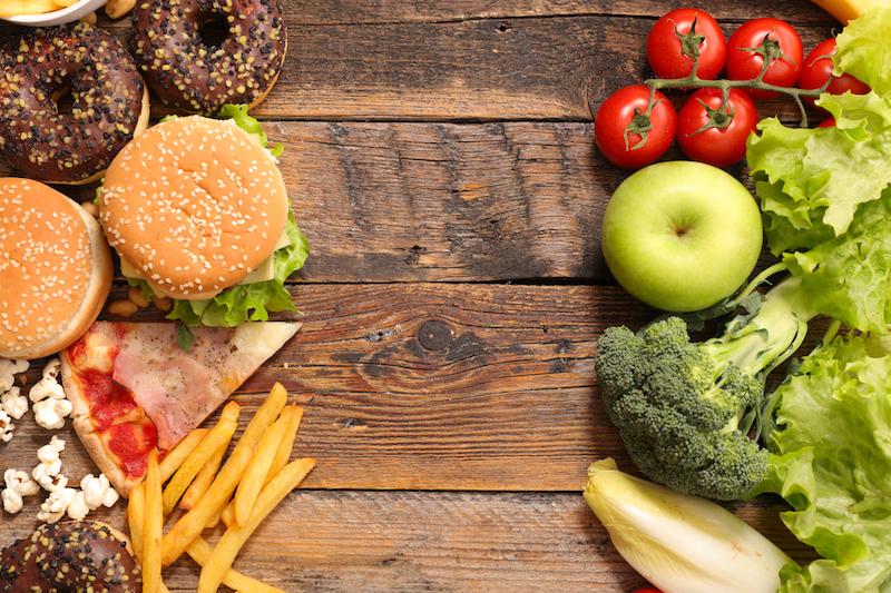 les aliments à calories pleines et à calories vides