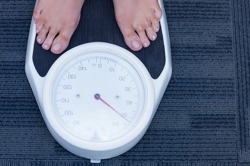 perte de poids sur la balance