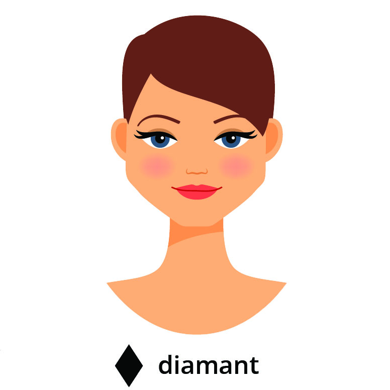 visage diamant