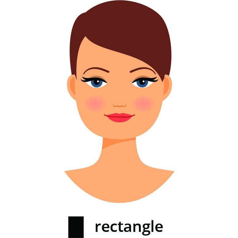 visage rectangulaire