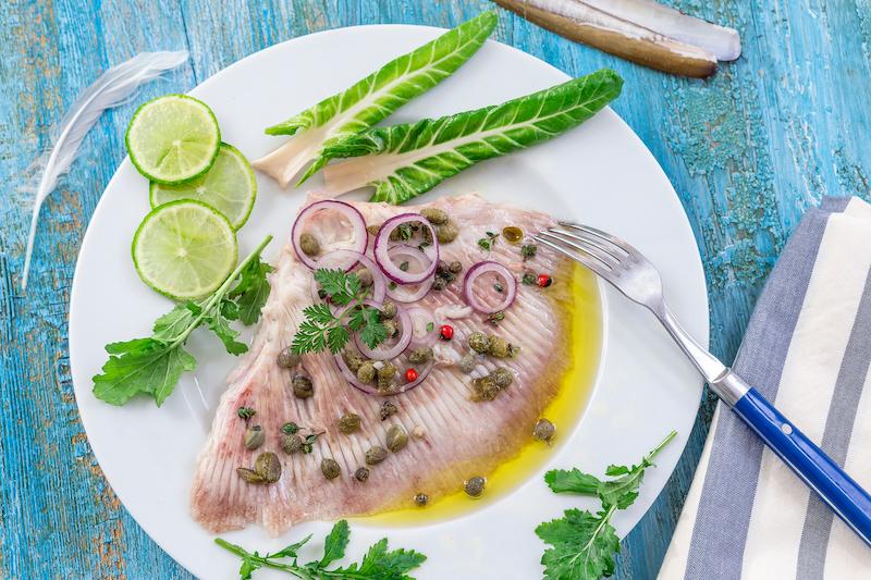 la raie, un poisson maigre pour perdre du poids