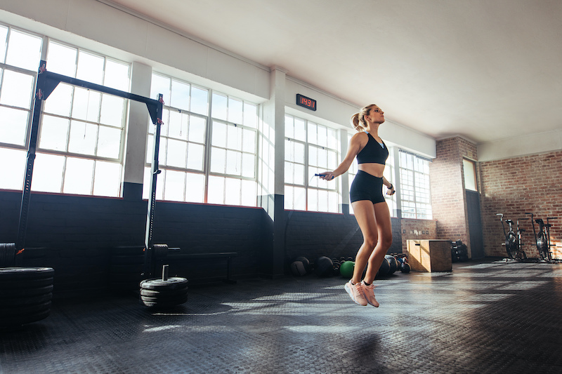 corde à sauter maigrir routine sport